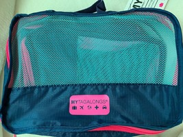 My Tagalongs Packing Pods - Teal/Pink NEW cosmetic travel organizer bags - $29.65