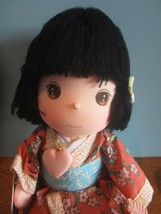"Precious Moments Japanese Doll the worlds children black yarn  Hair 13"" ... - $31.68"