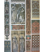 ARCHITECTURE Ornamentation Manuscripts 15th-16th C - A. RACINET Color Print - $25.20