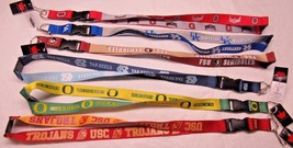 "NCAA Reversible Lanyard Keychain 23"" Long 34"" Wide by Aminco Select Team Below - $8.95"