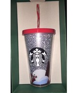 STARBUCKS FOX Cold Cup 16 oz. Limited Edition Holiday 2016 With New Gift... - $39.26