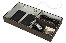 JackCubeDesign Multi Valet Tray Leather, Desk or Dresser Organizer, Catc... - $24.71