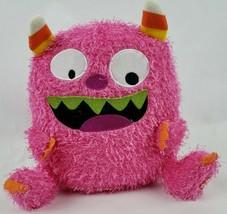 "Hallmark Talking Monster 8"" Plush Pink Candy Corn Horns Pointed Teeth Te... - $13.79"