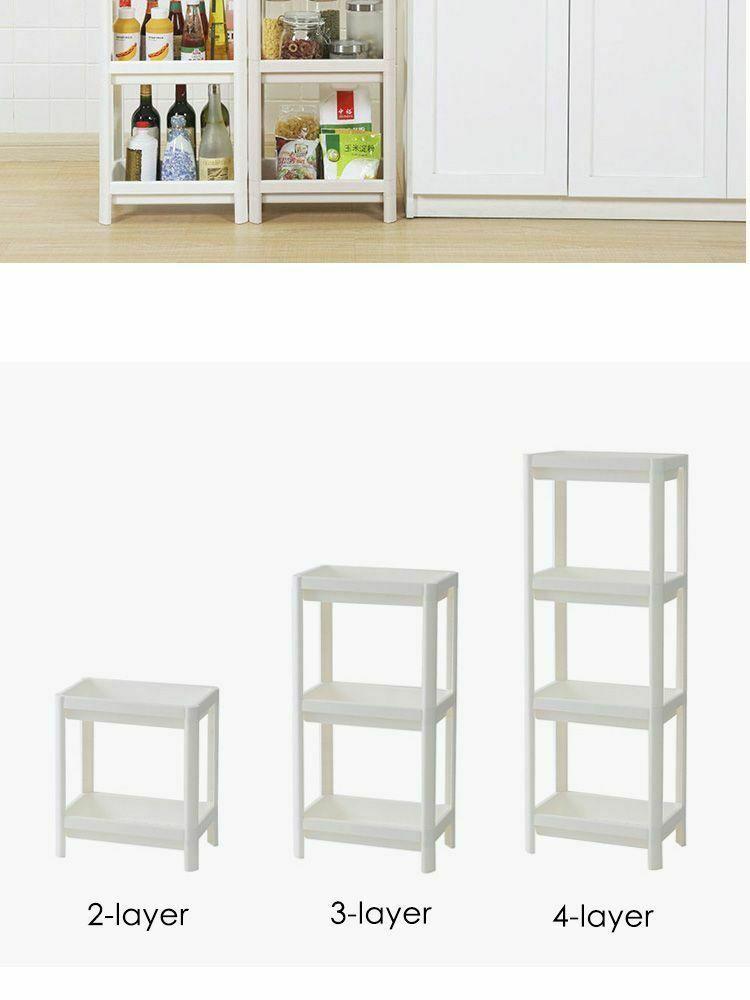 Rack Shelf Kitchen Side Plastic Storage Shelves Multi Functional House Organizer image 8