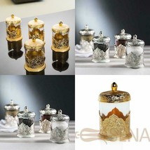 Golden Silver Spice Storage Jar Tins Luxurious Container New Listing - $94.74