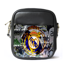 Sling Bag Leather Shoulder Bag Real Madrid Logo New Football Club Team I... - ₹1,007.66 INR