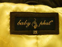 BABY PHAT Jacket Puffer Leather Kimora Lee Simmons Brown Coat XX-Large image 11