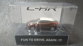 TOYOTA CHR LED Light Keychain Brown White Mini Car Japan Not sold in stores - $24.02