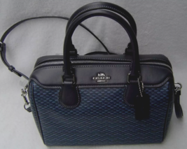 New Coach 29669 mini Bennett Legacy print Coated canvas handbag Navy - $119.00