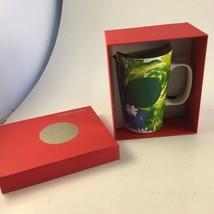 STARBUCKS 2014 Tall 16 Oz. Flowers Floral Print Coffee Tea Cup Mug Green... - $15.83