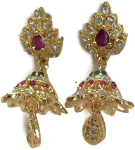 Ea  e255  Bollywood Fashion Polki Earring Set. Indian Party wear Jewelry. - $24.99