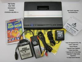 Atari 7800 Refurbished Upgraded OS NTSC | PAL MODs AV | LED | Heat Sink ID: #036 - $368.00