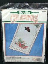 Bucilla Christmas To All A Good Night Stamped Cross Stitch Tablerunner 82862 NOS - $17.58