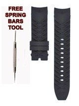Compatible Invicta S1 Rally Dragon 12140 24mm Black Rubber Watch Strap I... - $28.71