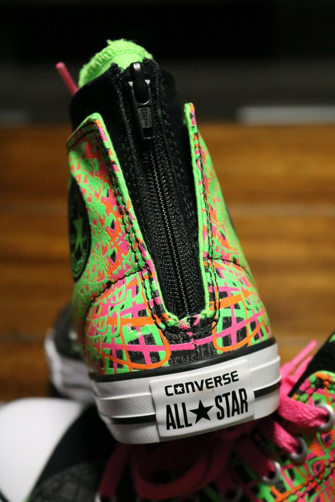 Converse Chuck Taylor All Star Zipback 649963C Black Pink Green Shoes Girls Sz 5 image 11