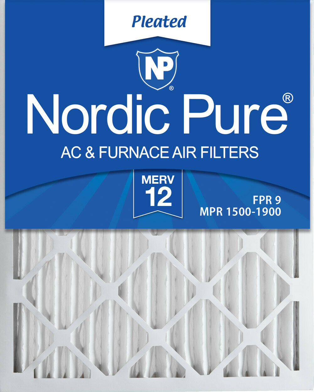 Nordic Pure 24x30x2 Pleated MERV 12 Air Filters 3 Pack - $52.32