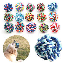 Pet Puppy Rope Dogs Cottons Chews Toy Ball Play Braided Bone Knot For Fun Hot - $6.39