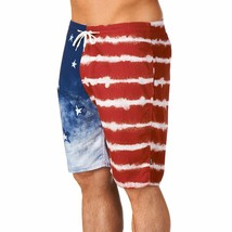 Kr3w Mens Medicate America USA Stars % Stripes Swim Surf Board-Shorts NWT image 2