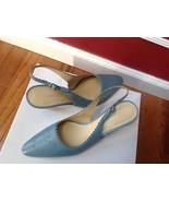 Covington Leather Light Blue Heels Women's Shoes Size 8M  - $19.79