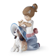 Lladro Collectible Figurine, GIRL WITH DOG An E... - $279.22