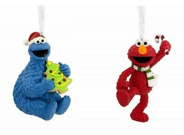 Sesame Street Cookie Monster  Elmo Hallmark Christmas Tree Ornaments Ch... - $35.99