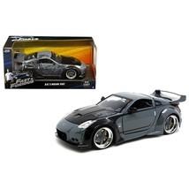D.K.s Nissan 350Z Black Fast & Furious Movie 1/24 Diecast Model Car by J... - $35.13