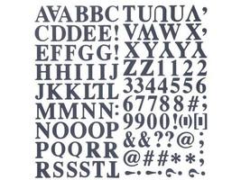 The Paper Studio-Alphabet Stickers-Navy Blue--127 Pieces