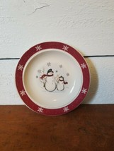 "Royal Seasons 6.5"" Christmas Stoneware Snowman plate Dessert Salad VGUC - $4.94"