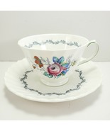Royal Doulton The Chelsea Rose Footed Cup and Saucer 6 oz Tea Coffee - $8.91