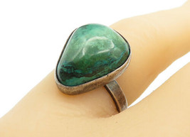 ISRAEL 925 Silver - Vintage Eilat Stone Triangle Cocktail Ring Sz 6 - R1... - $27.29