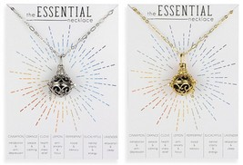 The Essential Necklace Basalt Lava Bead Oil Diffuser Necklace With Cage - $22.00