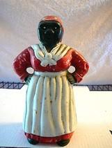 Vintage Large Cast Iron Black Americana Aunt Jemima Coin Bank/Doorstop 9... - $71.06