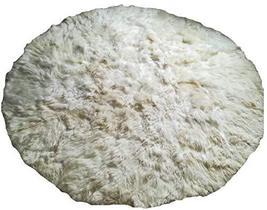 Alpakaandmore White Alpaca Fur Carpet Round Without Border (150 cm/ 4.92) - $425.70