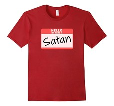 Hello-My-Name-is-Satan-Funny-Halloween-Devil-Costume-T-Shirt-Men*-Fu2NY - $17.95+