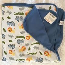 NEW Gymboree baby  reversible Lion Rhino safari blanket NEW TAgs - $54.45