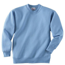 Hanes Boy's Youth Comfort Blend Ecosmart Light Blue Crewneck Sweatshirt - YL image 2
