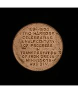 1934 Two Harbors, MN - Iron Ore 50 year anniversary - Gold Token - $12.00