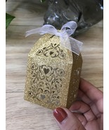 100pcs Glitter Gold Wedding Gift Boxes,Chocolate Boxes,wedding favor boxes - $48.00