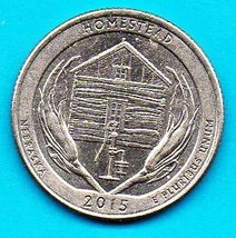 2015 D Nebraska America The Beautiful Washington Quarter Homestead - $1.25