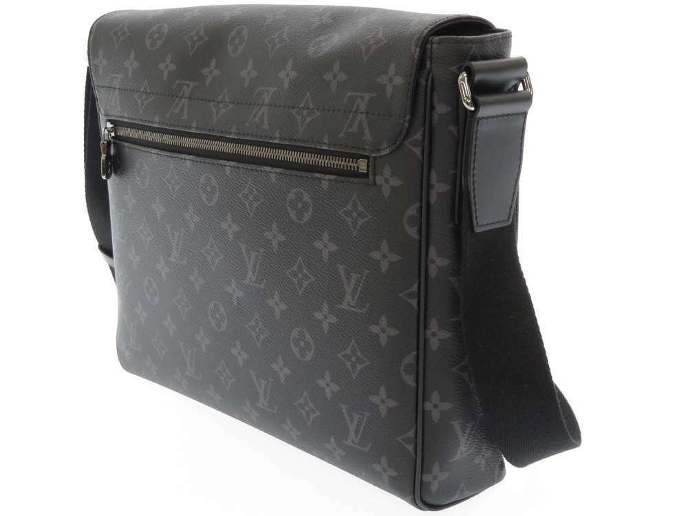 LOUIS VUITTON District MM Monogram Eclipse M44001 Shoulder Bag Authentic 5464432