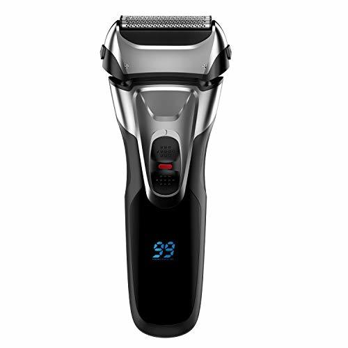Electric Shaver with Pop-up Trimmer for Men, Men's Electric Razor Cordless Foil