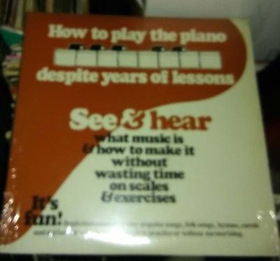 see & hear how to play the piano LP