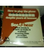 see & hear how to play the piano LP - $28.99