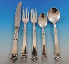 Danish Crown by Frigast Denmark Sterling Silver Flatware Set 8 Service 40 Pcs  - $2,895.00