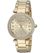 Women's MK6469 'Mini Parker' Floral Cutout Crystal Gold-Tone Stainless S... - $199.00