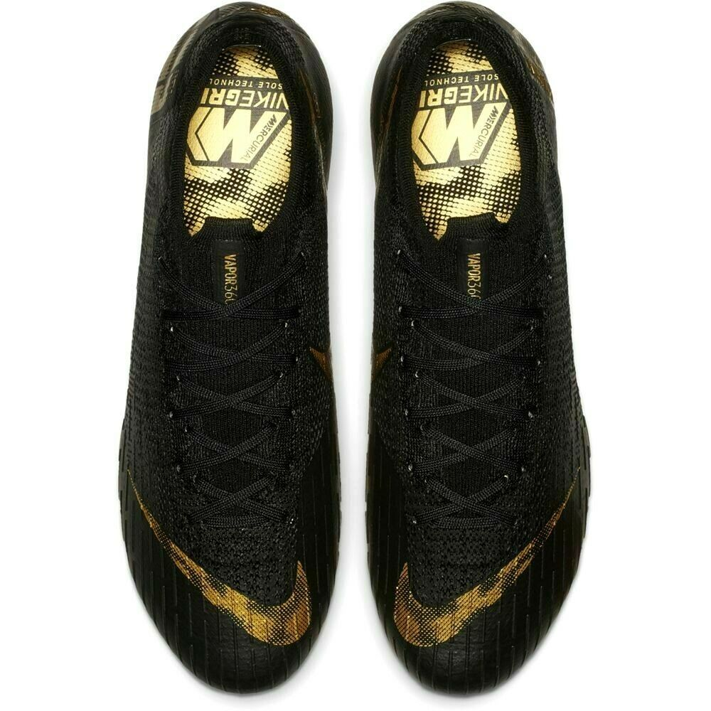 NIKE MERCURIAL VAPOR 12 ELITE FG BLACK/GOLD SIZE 11 BRAND NEW $250 (AH7380-077) image 6
