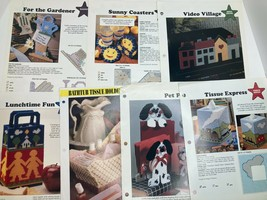Lot of 7 Vintage Leaflets Plastic Canvas 2 are Double Sided Leisure Arts & Annie - $6.84