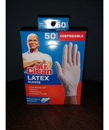 Mr. Clean Latex Disposable Gloves 50 Count Box, One Size Fits Most - $12.00