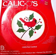 "NEW Calico's Red Cardinal 10"" Hoop Lois Thompson Appliqué Complete Kit #... - $9.89"