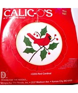"""NEW Calico's Red Cardinal 10"""" Hoop Lois Thompson Appliqué Complete Kit #... - $9.89"""